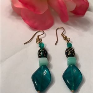 Dangling Turquoise Stone Earrings